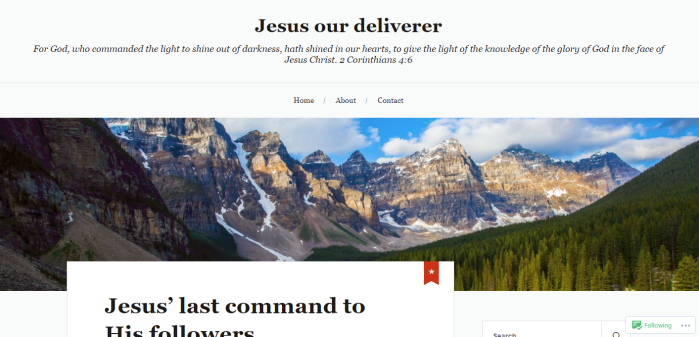 A-Jesus our deliverer