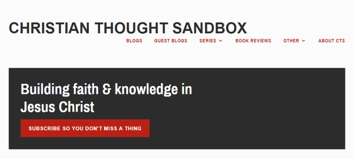 Christian Thought Sandbox